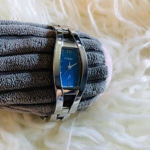 Fossil Brand F2 Watch w/Blue Face & New Battery